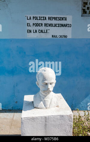 Monument to Jose Marti, the cuban National hero at the Revolution Square in Cienfuegos - Stock Photo