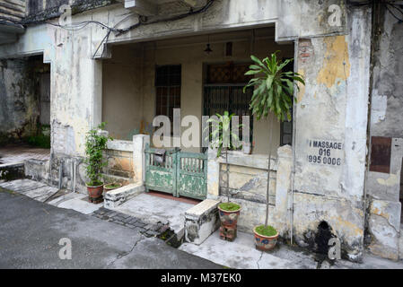Kuala Lumpur, Malaysia - November 1, 2014: Facade of the old house in colonial style on one of streets of Kuala - Stock Photo