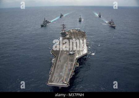 170428-N-GD109-019  PHILIPPINE SEA (April 28, 2017) Japan Maritime Self-Defense Force destroyers JS Ashigara (DDG - Stock Photo