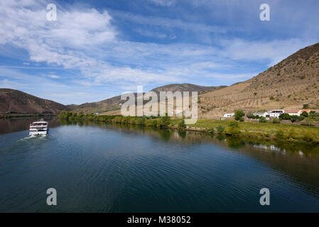 Cruise boat on the Douro river, Portugal, Europe - Stock Photo