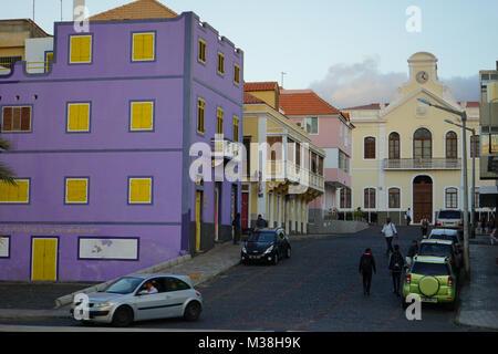 City Hall, Mindelo, Sao Vincente Island, Cape Verde - Stock Photo