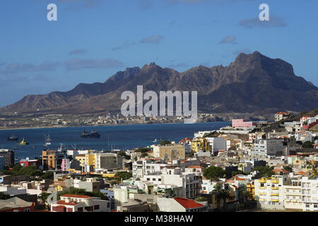 Stunning View iew over Mindelo, Sao Vincente, Cape Verde - Stock Photo