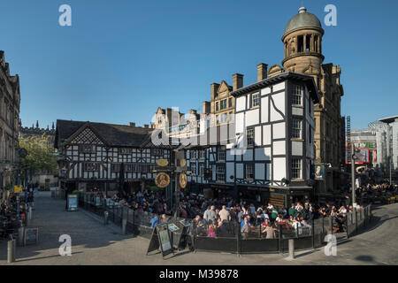 Shambles Square and The Shambles, Manchester, Greater Manchester, England, UK - Stock Photo