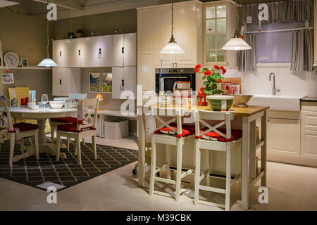 ... California; Los Angeles, DEC 28: Interior View Of The Famous IKEA Furniture  Stores On DEC