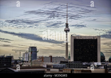 TV Tower Berlin Germany taken in 2009 - Stock Photo