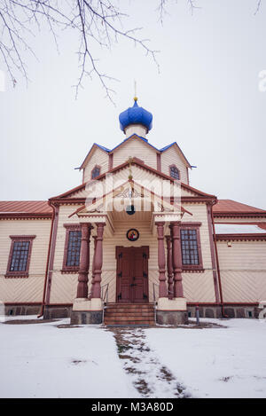 Orthodox Church of Saint James the Less in Losinka village, Hajnowka Country in Podlaskie Voivodeship of northeastern - Stock Photo