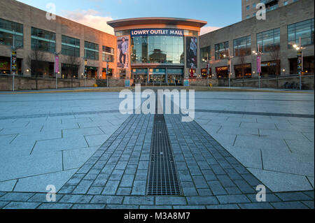 The Lowry Outlet Mall, Salford Quays, Greater Manchester, England, UK - Stock Photo