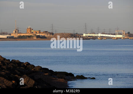 Sheerness, Kent,  UK. 10th Feb, 2018. UK Weather: a sunny but very cold morning in Sheerness. Credit: James Bell/Alamy - Stock Photo