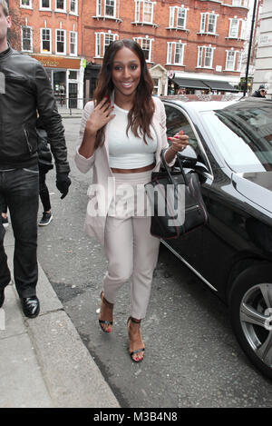 London, UK,10th Febuary 2018: *Exclusive content* Alexandra Burke Singer-songwriter seen at the BBC Wogan House - Stock Photo