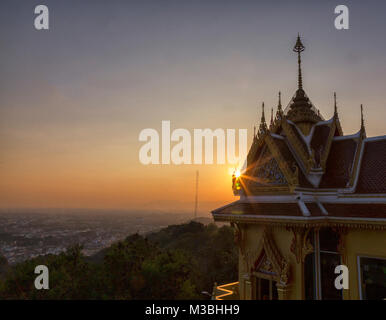 Candles burning a Chinese Buddhist Temple and Pagoda in Bangkok Thaialnd - Stock Photo