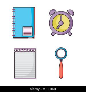 Set school utensils to education knowledge stock vector art set education school utensils icons stock photo voltagebd Images