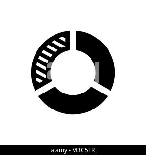 Pie chart icon. Infographic symbol. - Stock Photo