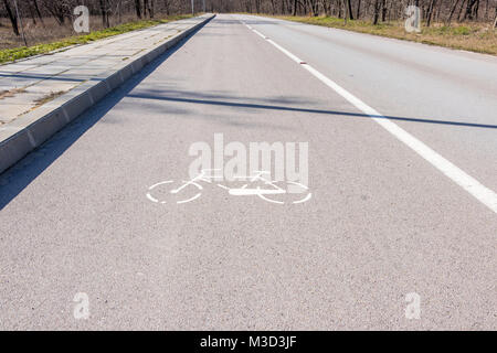 a special bicycle road for the convenience and safety of cyclists - Stock Photo