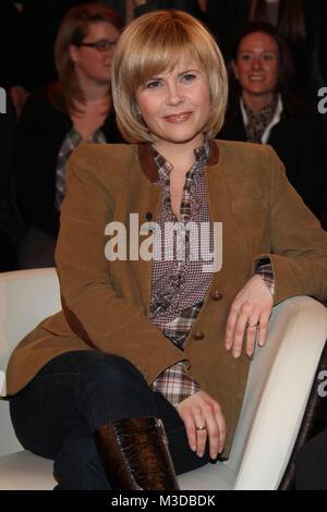 Lanz, Aufzeichnung vom 23.02.2011, Hamburg, Michaela Schaffrath (Schauspielerin) - Stock Photo
