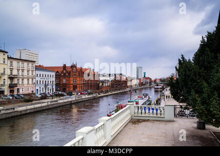 Mill Island - a historic island in the Old Town of Bydgoszcz, Poland - Stock Photo