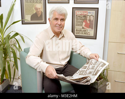 Portrait of Max Clifford English publicist  famous for his 'kiss-and-tell' stories to tabloid newspapers. Photographed - Stock Photo