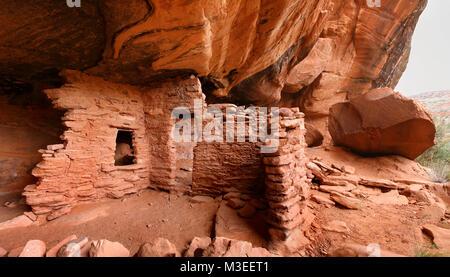 Castle Creek indian ruins in Southern Utah - Stock Photo