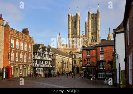 The cathedral quarter in Lincoln - Stock Photo