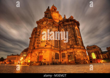 Cathedral Frauenkirche Dresden taken in 2013 - Stock Photo