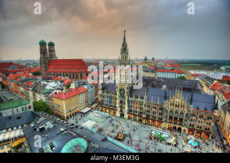 Munich Market Square taken in 2013 - Stock Photo