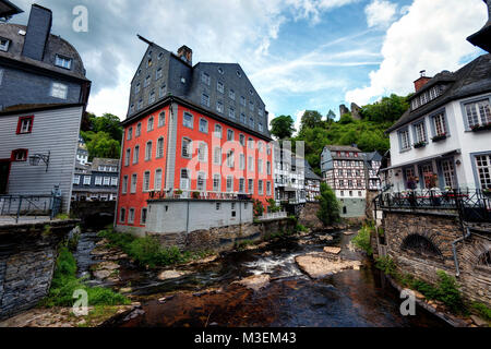 Red House Monschau, Germany taken in 2015 - Stock Photo