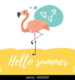 Hello Summer design  - Stock Photo