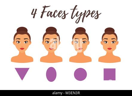 vector illustration different types female noses stock vector art