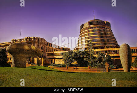 New Zealand Parliament taken in 2015 - Stock Photo