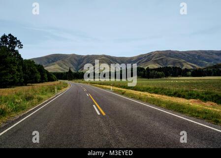 Road to Milford Sound taken in 2015 - Stock Photo