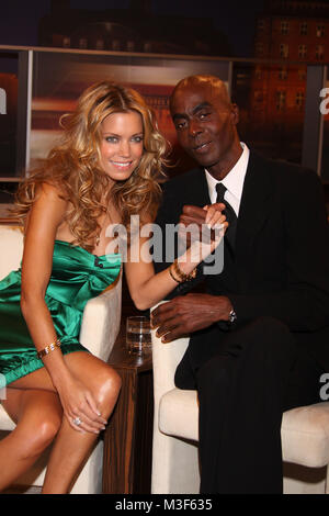 Kerner, 23.10.2008, Hamburg, Sylvie van der Vaart, Model und Catwalk-Trainer Bruce Darnell - Stock Photo