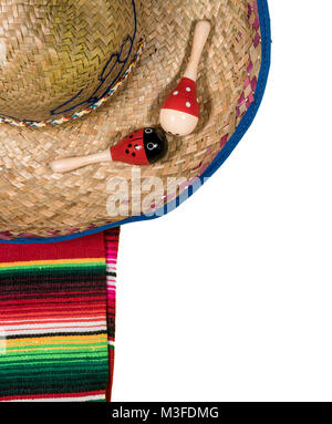 Cinco de Mayo festival background on white - Stock Photo