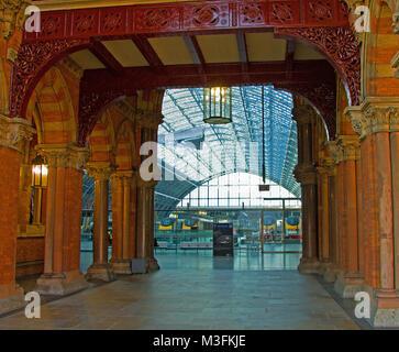 St Pancras International Station London - Stock Photo