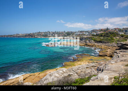 Mackenzies bay in Tamarama looking south towards Bronte beach in Sydney,Australia - Stock Photo