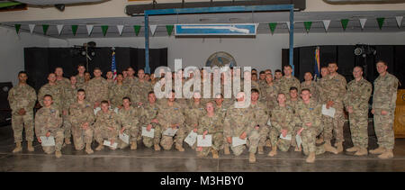 U.S. Army Soldiers assigned to Combined Joint Task Force - Horn of Africa pose for a - Stock Photo