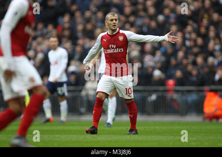 London, UK. 10th February, 2018. Jack Wilshere (A) at the English Premier League football match between Tottenham - Stock Photo