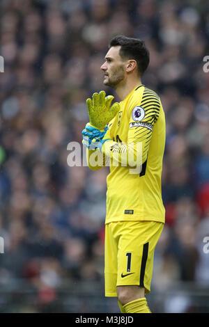 London, UK. 10th February, 2018. Hugo Lloris (TH) at the English Premier League football match between Tottenham - Stock Photo