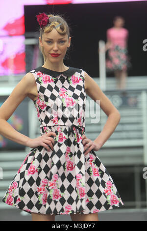 London, UK. 11th February, 2018. The London Edge fashion show showing their authentic lifestyle fashion  with Voodo - Stock Photo