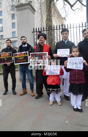 London, UK. 11th February, 2018.  Peaceful Protest in solidarity with the Pashtun sit-in in Islamabad where thousands - Stock Photo