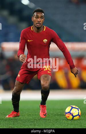 Rome, Italy. 11th Feb, 2018. Stadio Olimpico, Rome, Italy; Serie A Football, Roma versus Benevento; Gerson of Roma - Stock Photo
