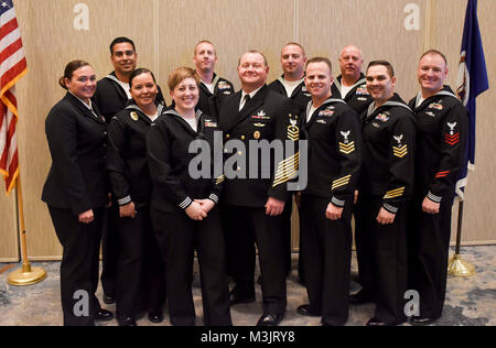 VIRGINIA BEACH, Va. (February 9, 2018) FORCM James Herdel, force master chief, Navy Expeditionary Combat Command - Stock Photo