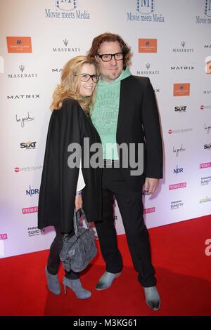 Michaela Schaffrath und Carlos Anthonyo, Movie meets Media im Hotel Atlantic, Hamburg, 28.11.2016 - Stock Photo