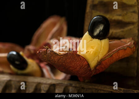 Ackee pod food still-life photograph, St. Thomas, Jamaica, West Indies, Caribbean - Stock Photo