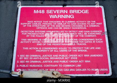 The M48 severn bridge tolls - Stock Photo