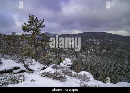 Jonsdorf mountains in saxony - Stock Photo