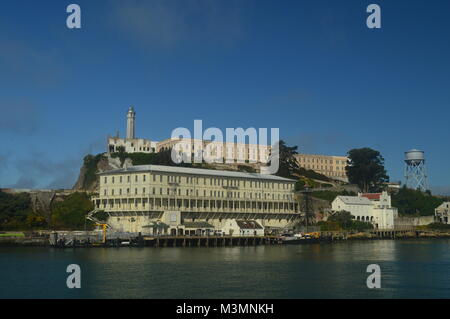 Views Of Alcatraz Island From The Sea. Travel Holidays Architecture June 30, 2017. San Francisco. California USA - Stock Photo