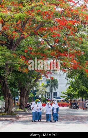 School girsl in Solo, Indosia - Stock Photo