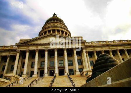 Utah State Capitol Salt Lake City taken in 2015 - Stock Photo