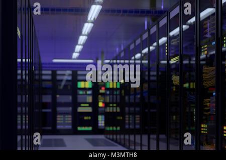 Working data center interior. - Stock Photo