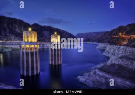 Hoover Dam USA taken in 2015 - Stock Photo
