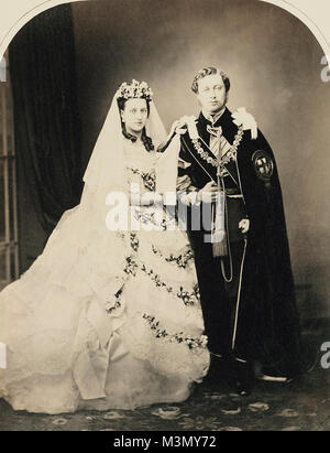 The wedding of Albert Edward, Prince of Wales (later King Edward VII), and Alexandra of Denmark, London, 1863 - Stock Photo